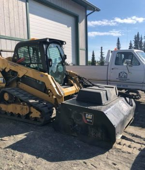 Parking Lot Sweep - CAT Skid Steer w: Pick Up Broom