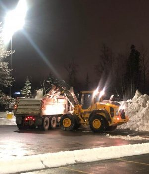 Snow & Ice - Loader L70 Loading Out End Dump