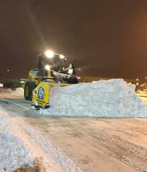 Snow & Ice - Loader w: 16' Arctic Sectional Sno Pusher